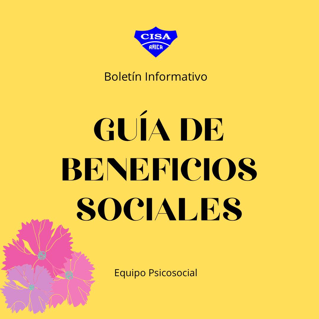 Boletín Nº12: Guía de Beneficios Sociales